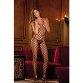 Diamond net footless bodystocking